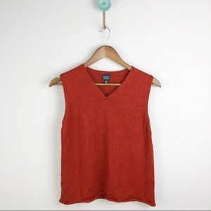 Eileen fisher knit linen vest
